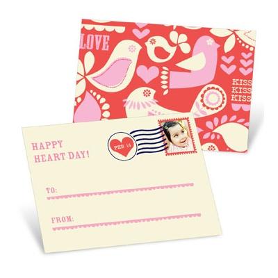 Kissed Photo Stamp  Valentine's Day Cards for Kids