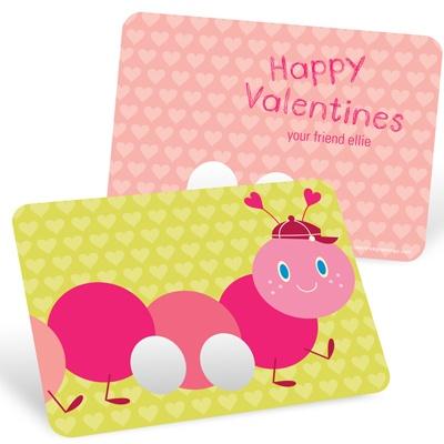 Caterpillar Finger Puppet Classroom Valentines