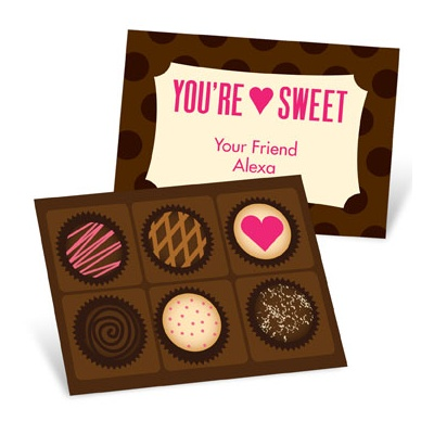 Cheerful Chocolates Valentine's Day Cards for Kids
