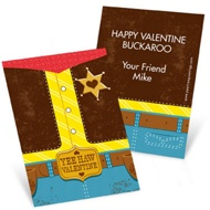 Yee Haw Cowboy -- Valentine's Day Cards for Kids
