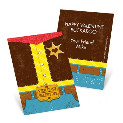 Yee Haw Cowboy Valentine's Day Cards for Kids