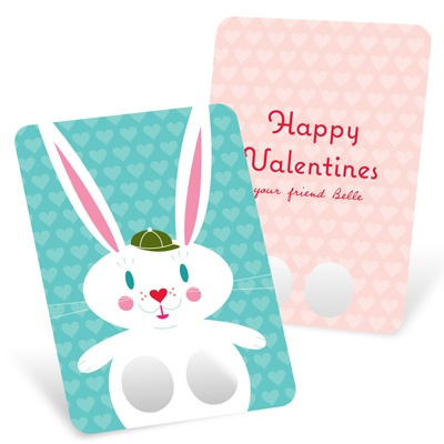 Bunny Finger Puppet Classroom Valentines