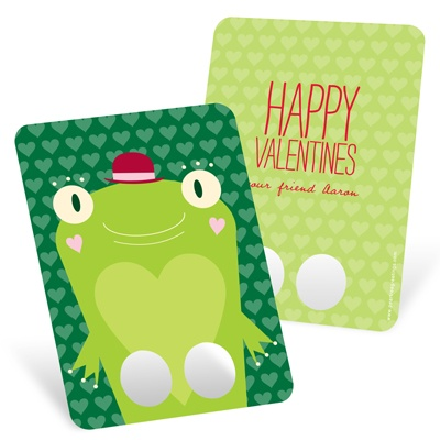 Kids Frog FInger Puppet -- Unique Valentines Day Cards