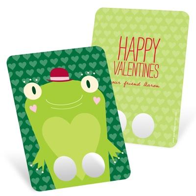 Frog Finger Puppet Classroom Valentines