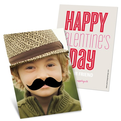 Mustache Photo Props -- Vintage Valentines Day Cards