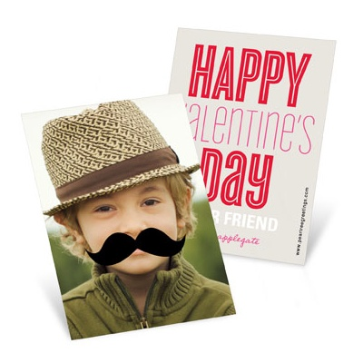 Mustache Photo Props --  Valentine's Day Cards for Kids