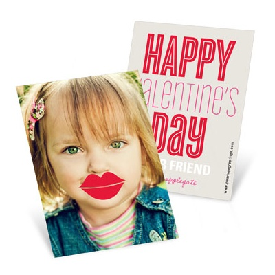 Lips Photo Props --  Valentine's Day Cards for Kids