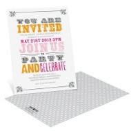 Stamped Fonts Vintage Birthday Invitations