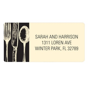 Stylish Silverware -- Unique Return Address Labels