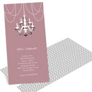 Chic Chandelier Classy Party Invitations