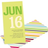Color Stream Retro Party Invitations