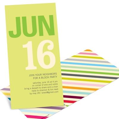Color Stream Retro Party Invitations