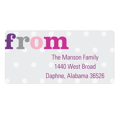 Dotted to Perfection -- Polka Dot Address Labels