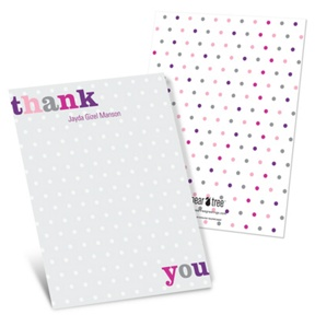 Dotted to Perfection -- Baby Thank You Cards