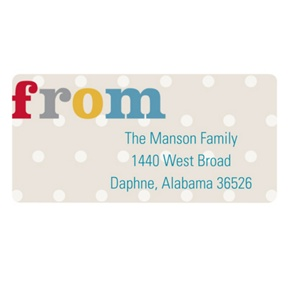 Sweet Polka Dots -- Baby Address Labels
