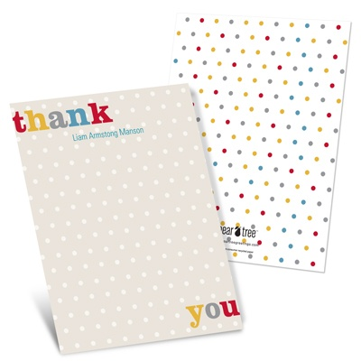 Primary Polka Dots Baby Thank You Cards