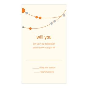 Swanky Strands -- Response Wedding Cards
