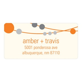 Swanky Strands -- Wedding Invitation Address Labels