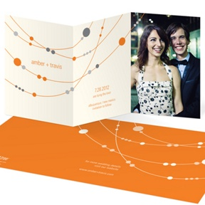 Swanky Strands Trifold -- Save The Date Cards