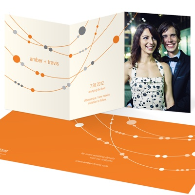 Swanky Strands Trifold Save The Date Cards