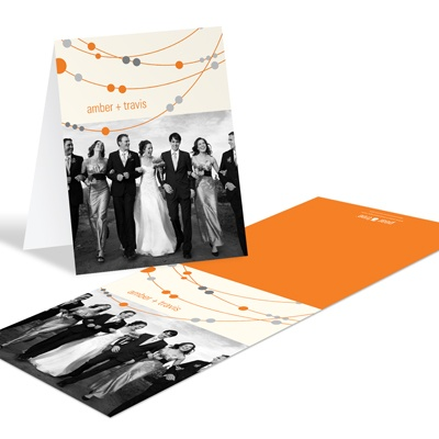 Swanky Strands Wedding Photo Thank You Notes