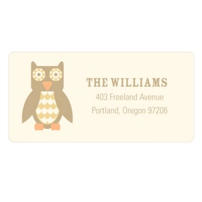Vintage Owl -- Baby Address Labels