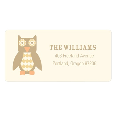 Vintage Owl Baby Address Labels