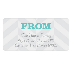 Trendy Chevron Stripes -- Baby Address Labels