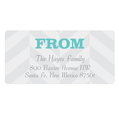 Trendy Chevron Stripes Baby Address Labels