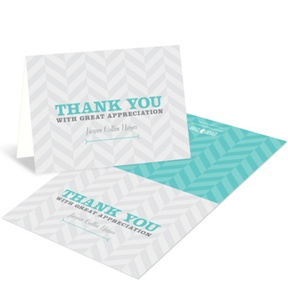 Trendy Chevron Stripes -- Adoption Thank You Cards