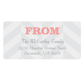 Chic Chevron Stripe -- Baby Address Labels