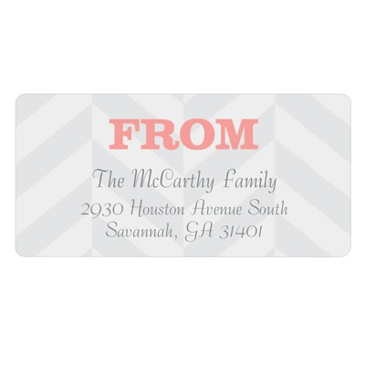 Chic Chevron Stripes -- Personalized Family Address Labels