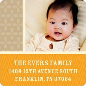 Sweet Squares -- Baby Address Labels