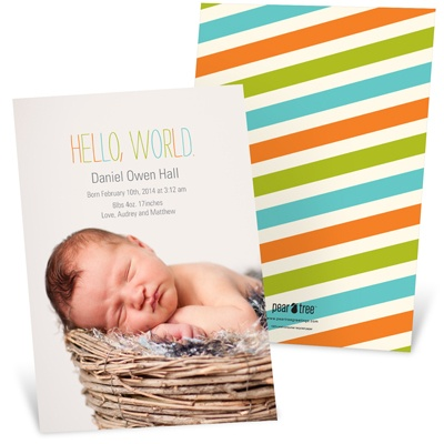 Colorful Debut Birth Announcements