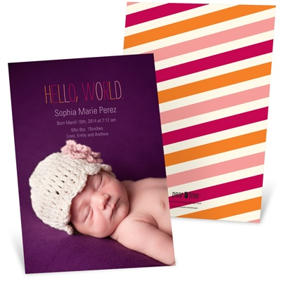 Sweet Debut -- Contemporary Birth Announcements