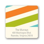 Contemporary Stripes -- Family Return Address Labels
