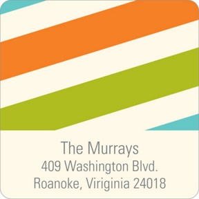 Contemporary Stripes -- Baby Address Labels