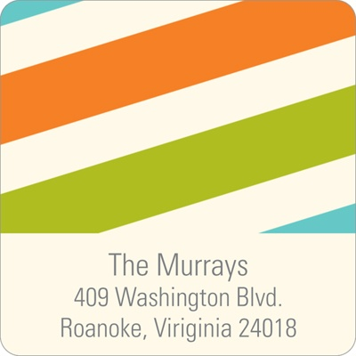 Contemporary Stripes Baby Address Labels