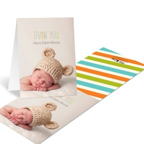 Trendy Thank You -- Baby Thank You Cards