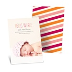 Trendy Introduction -- Adoption Announcement Cards