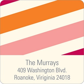 Sweetly Striped -- Baby Address Labels