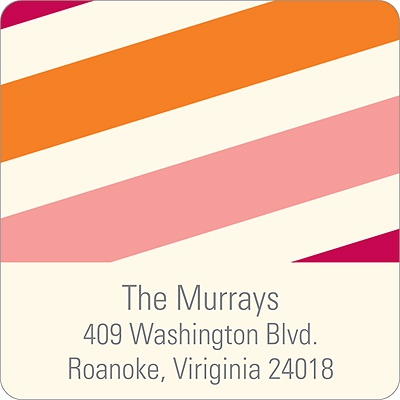 Sweetly Striped Baby Address Labels