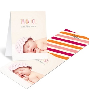 Trendy Gratitude -- Baby Thank You Cards