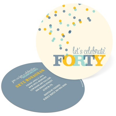 Celebrate Forty 40th Birthday Invitations
