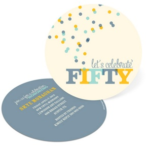Celebrate Fifty -- 50th Birthday Invitations