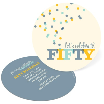 Celebrate Fifty 50th Birthday Invitations