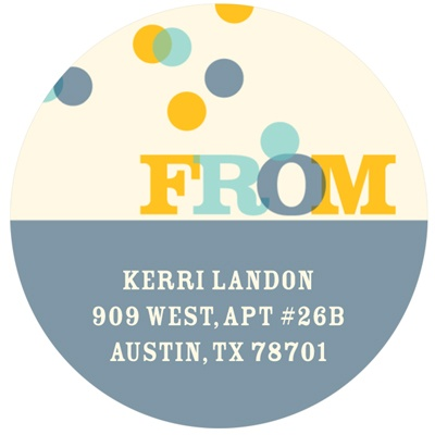 Confetti Celebration Birthday Return Address Labels