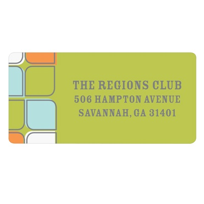 Tiled Pattern Retro Address Labels