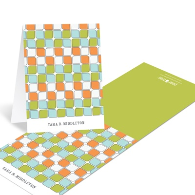 Tiled Pattern Creative Thank You Notes