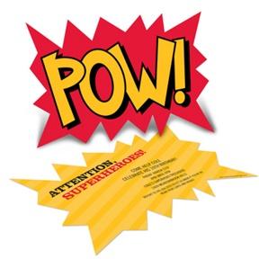 Calling All Superheroes -- Kids Birthday Invitations